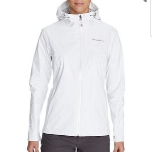 Eddie Bauer Cloud Cap Rain Jacket in white